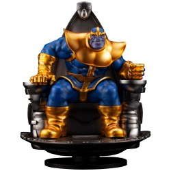 Thanos on Space Throne -...